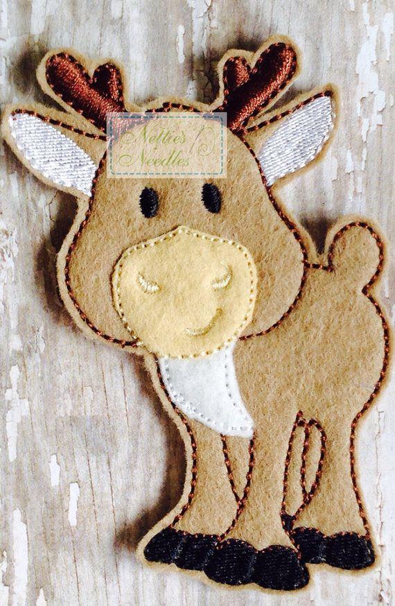 Felt Frozen Sven Reindeer by NettiesNeedlesToo on Etsy, $7.00