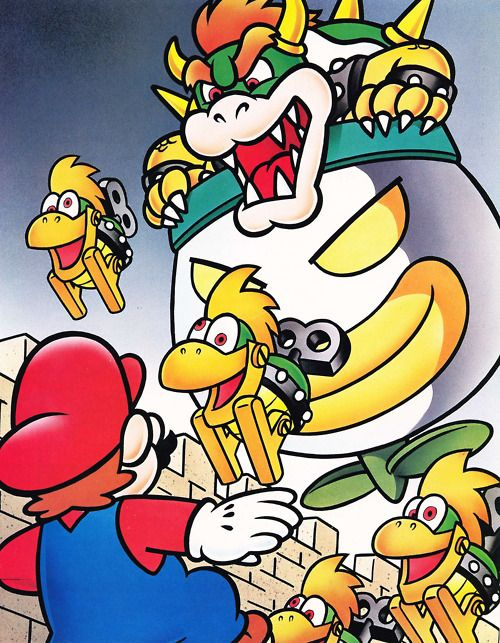 Koopa, Clown Car and Mecha Koopas in the Valley of Bowser