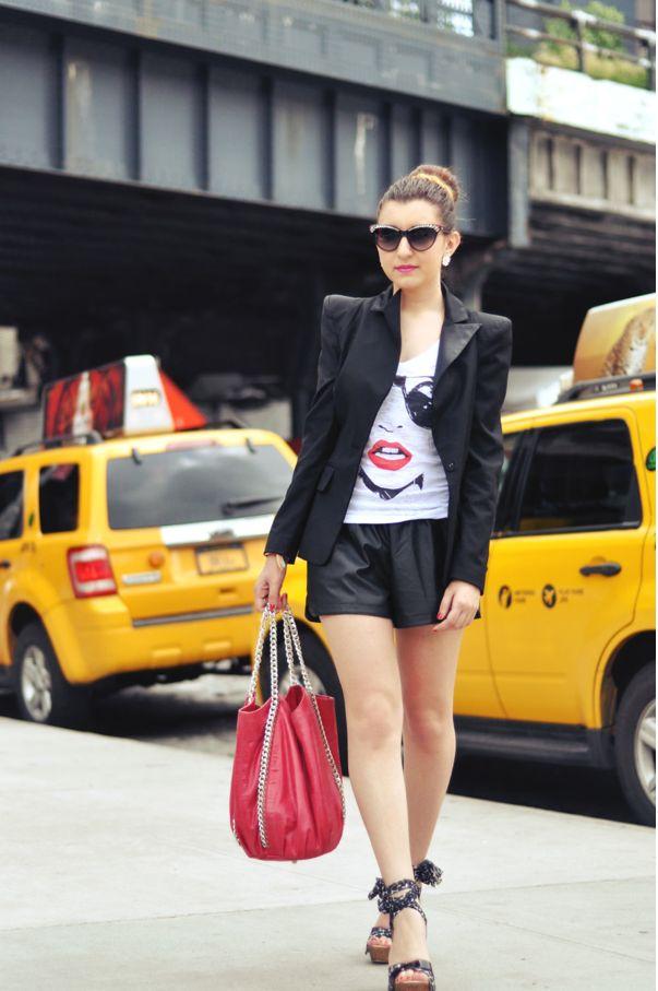 "Sabrina Musco wears ""Glass"" T-shirt http://www.freakyfridayblog.com/2013/06/new-york-2.html"