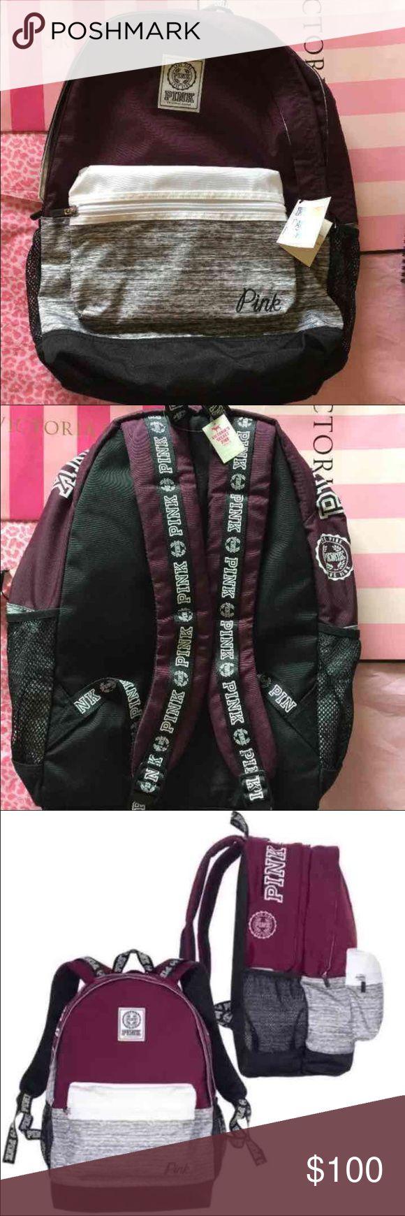 VS PINK BACKPACK Brand new VS PINK backpack - Maroon PINK Victoria's Secret Bags Backpacks