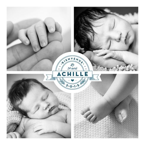 Faire-part de naissance Logo 4 photos