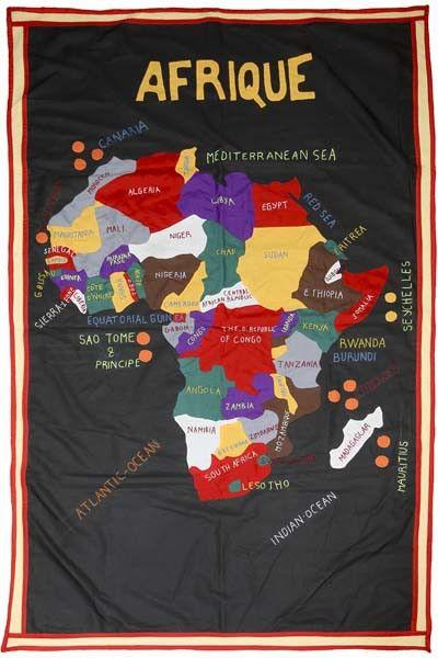 Аппликации из ткани купить карта Африки