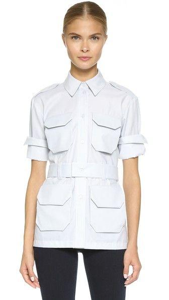 Victoria Beckham 4 Pocket Military Shirt