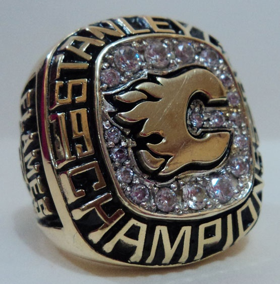 1990 Calgary Flames Ring something canucks don't have!!!