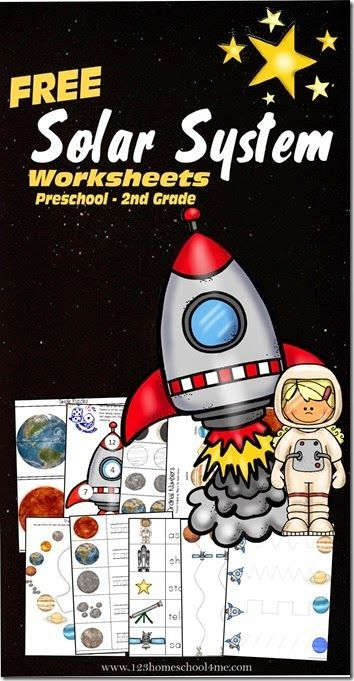 Solar System Worksheets - FREE printable worksheets for kids to practice the letter s, counting, planets, constellations, adding, and more for preschool, kindergarten, 1st grade, and 2nd grade kids.
