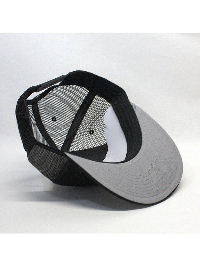 Plain Cotton Twill Flat Brim Mesh Adjustable Snapback Trucker Baseball Cap  (Varied Colors) - Black - CJ1258SO2UT  4974fd6071e