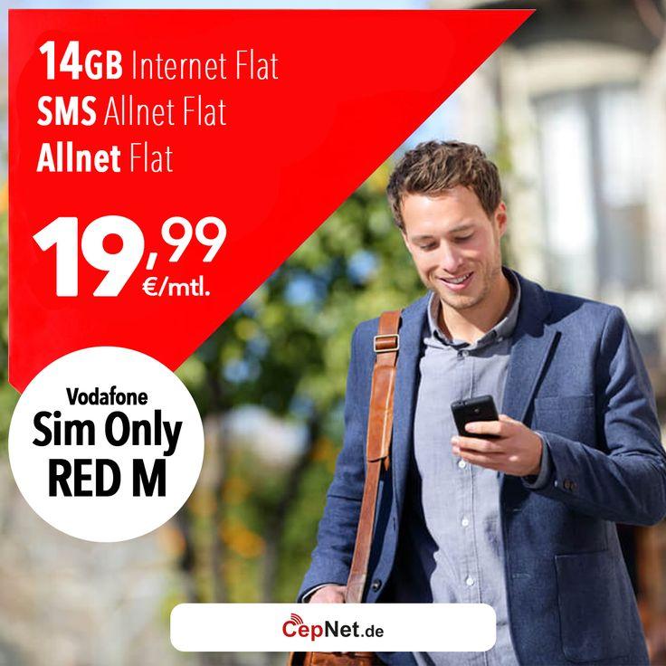 🔥🔥Vodafone Red M Sim-Only 19,99€ mit günstigem Vodafone RED M Sim Only 2017 *Aktion* Vertrag  👉👉 https://www.cepnet.de/simonly/vodafone/red-m-simonly/1999/vodafone/red-m-sim-only-2017-aktion/?utm_source=cepnet_sosyal&utm_medium=sosyal&utm_campaign=vodafone_sim&bid=faa    ✅Telefonie-Flat* in alle dt. Handy-Netze  ✅Telefonie-Flat* ins dt. Festnetz  ✅SMS & MMS Flat* in alle dt. Handy-Netze  ✅Internet Flat* 14 GB mit bis zu 375 mbit/s LTE (danach Drosselung auf 32 Kbit/s)  ✅inkl. Giga Depot…