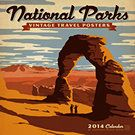 National Parks Vintage Travel Posters 2014 Wall Calendar