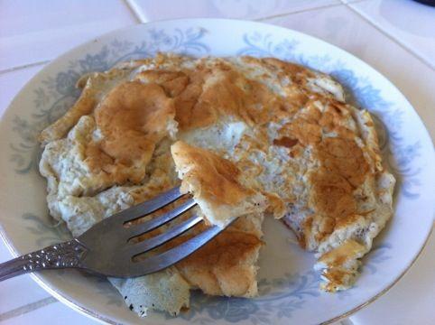 sweet protein pancake omelet: Recipe