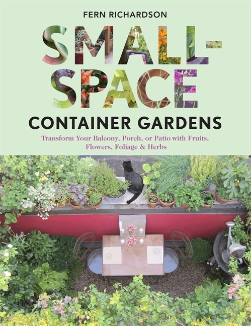 """""""Fern Richardson writes about small-space gardening with an authentic voice. ... Her book is filled with ingenious ways to convert tiny areas into outdoor oases, complete with plant vegetation and small-scale furniture so that anyones balcony, porch, or tiny patio may become a multi-purpose outdoor living area."""" sscg-events-reviews"""