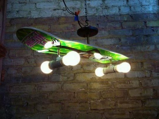 Boredom Led to This DIY Skateboard Chandelier — Reddit