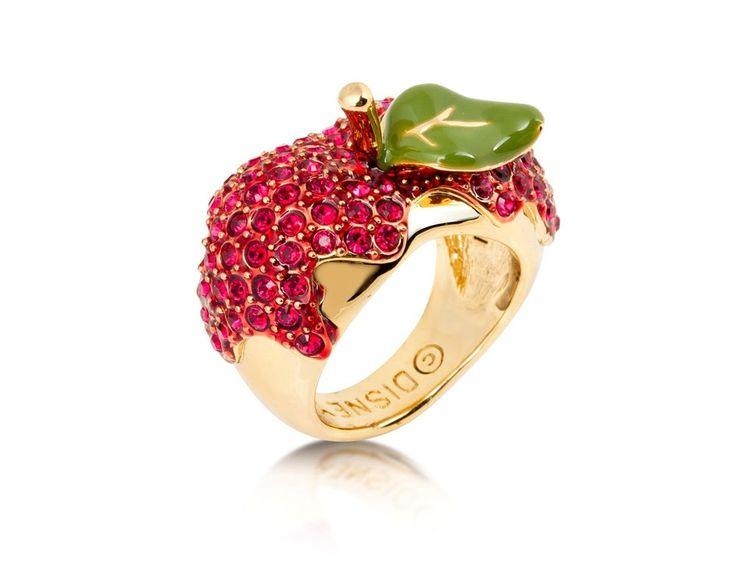 Disney Couture Schneewittchen 14kt vergoldet Rot Krisatll Poison Apfel Ring in Uhren & Schmuck, Modeschmuck, Ringe | eBay