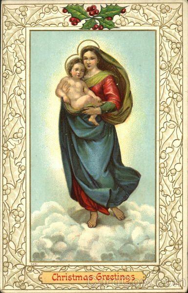 Kerstgroeten Madonna & Child......................lb xxx