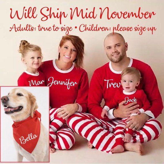 28e43b4d7c PREORDER! Personalized Christmas Family Pajamas Set