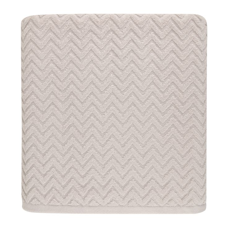 zig zag jacquard towel