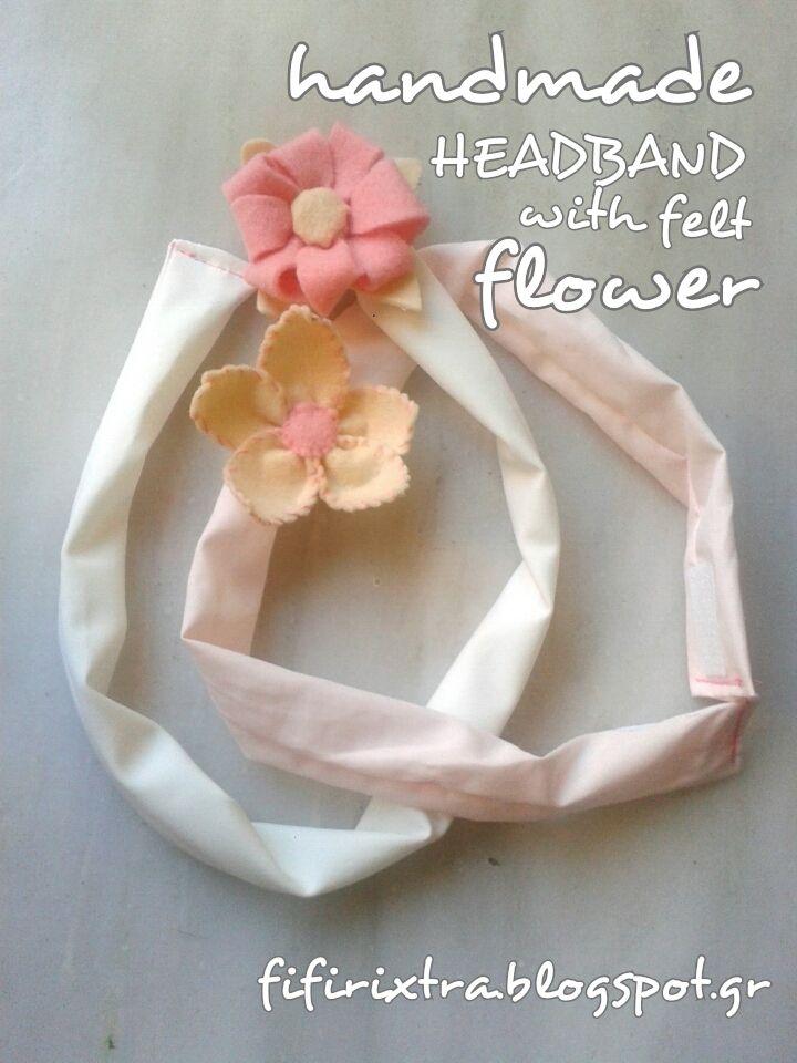Ανοιξιάτικες χειροποίητες κορδέλες μαλλιών με λουλούδια _handmade toodles spring headbands with felt flowers
