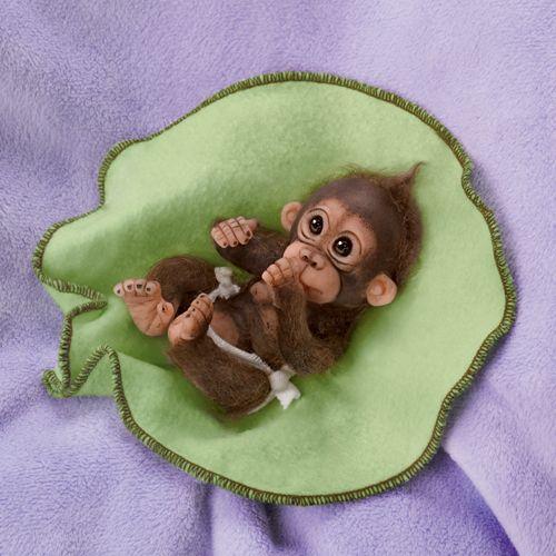 Миниатюрные куклы младенцы-обезьянки - Люблю тебя. 3 вида!