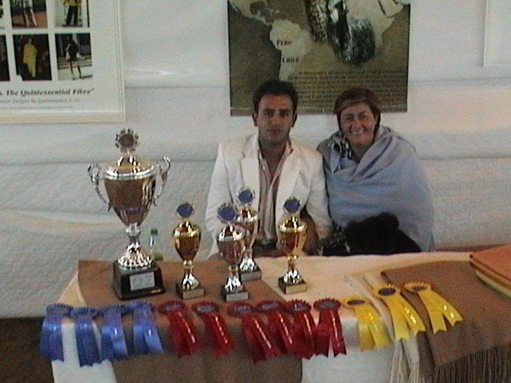 Rodrigo De La Garza and Maria Herlinda De La Garza at the Alpaca Show in Germany.