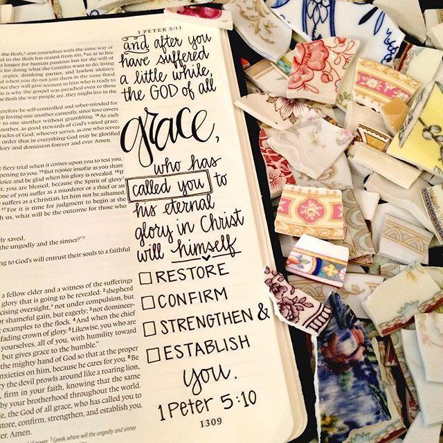 1 Peter 5:10 #biblejournaling #GodsWord                                                                                                                                                      More