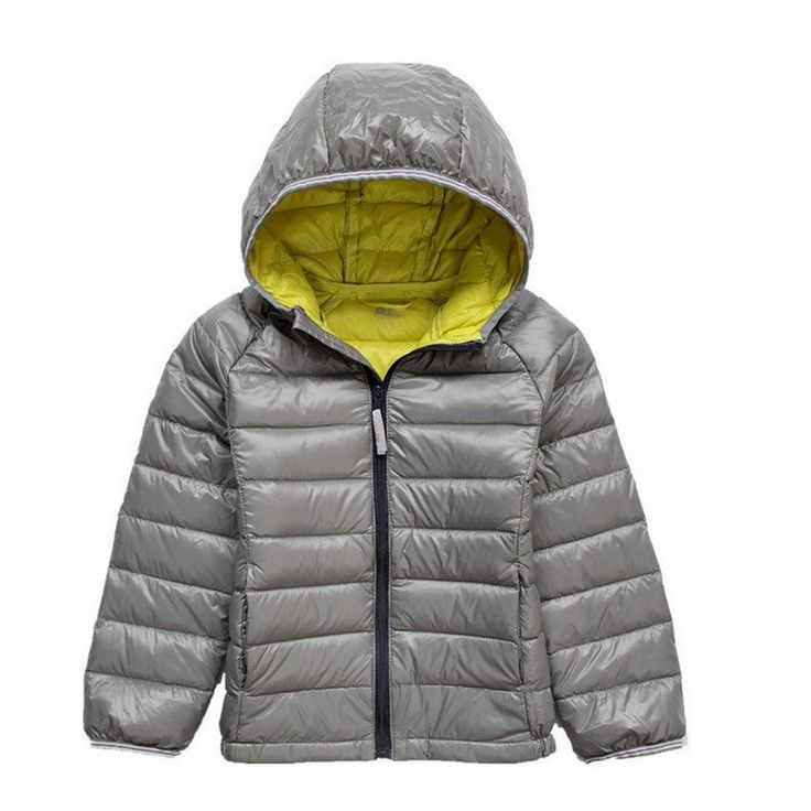 GetUBacK Kids Down Coat Warm Puffer Jacket With Hood Grey CN 140. HC515: unisex-kids down coat. Fabric: polyester,Filling: 90% duck down. Candy Colors. Warm for Winter. It will take 15-20days to arrive.
