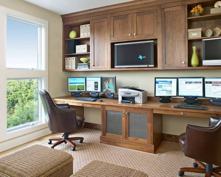 The 25 Best Double Desk Office Ideas On Pinterest White In Home For Two And