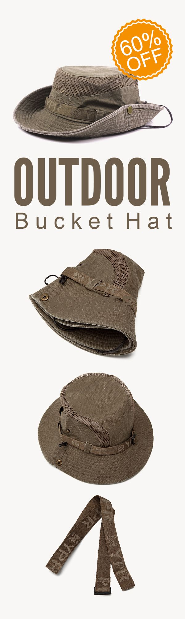 60%OFF&Free shipping. Outdoor Bucket Hat, Fisherman Hat, Sunshade Cap, Outdoor, Climbing, Mesh, Breathable. Shop now~