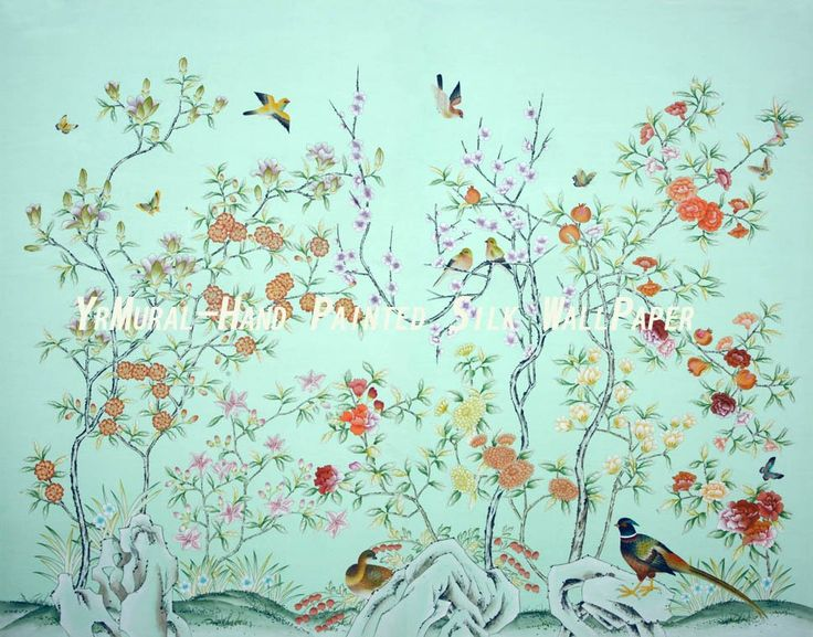 Chinoiserie chinoiserie papers fabrics pinterest for Oriental style wallpaper uk