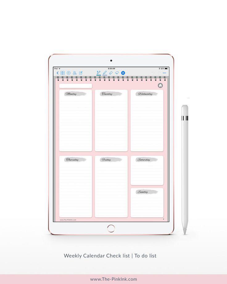 Ipad Planner Goodnotes Digital Planner Notability 6