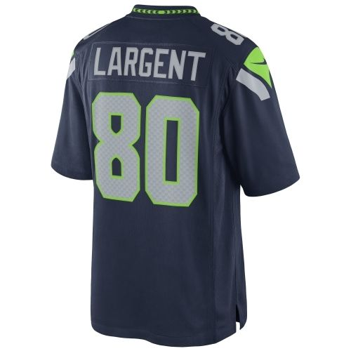 NFL Jersey's Men's Seattle Seahawks Steve Largent Nike College Navy Retired Player Game Jersey