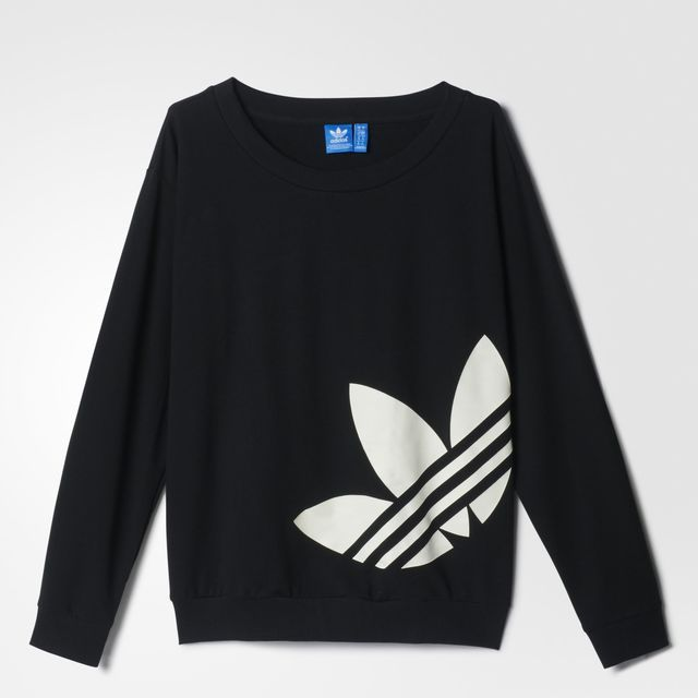 adidas Sudadera Originals adicolor Light Logo Mujer - Black | adidas Mexico