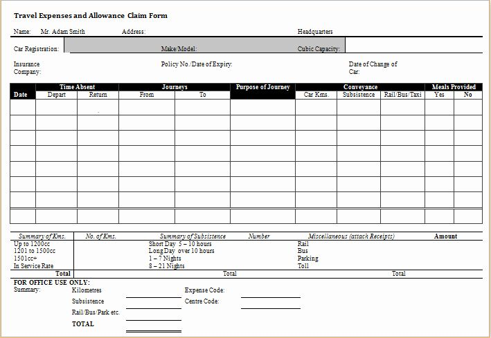 Travel Expense Form Template Unique Ms Word Excel Expense Claim Forms In 2020 Document Templates Templates Time Tracking Software