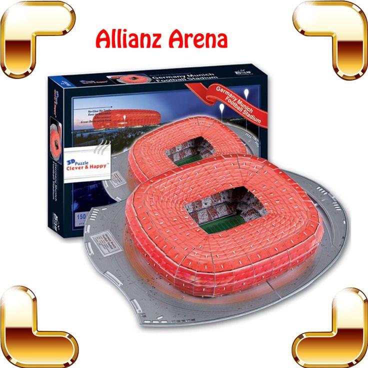 Новогодний подарок футбольное поле Allianz арена 3d-головоломка модель цветная бумага DIY игрушки IQ игры