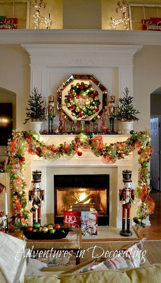 308 best Christmas Mantels images on Pinterest