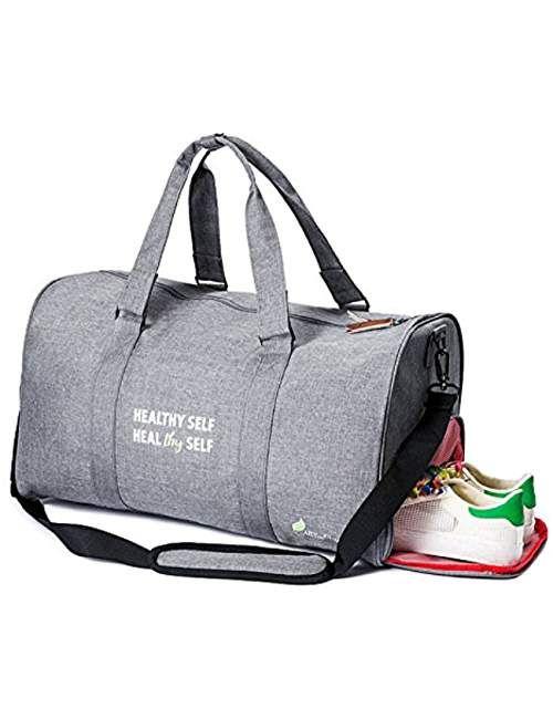aed7d7e05e INSPIRATIONAL Travel Sport Duffel Gym Bag w Shoe Compartment  Weekender Men Women