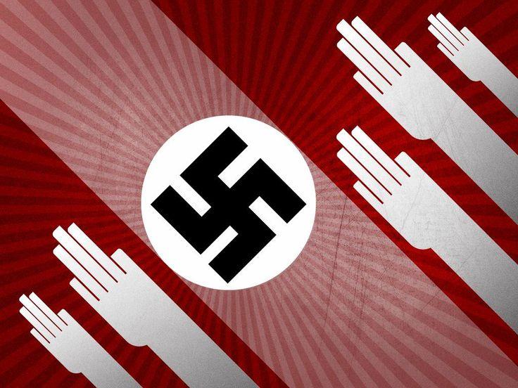 Les mains au ciel pour saluer le Führer! #nazi #propaganda