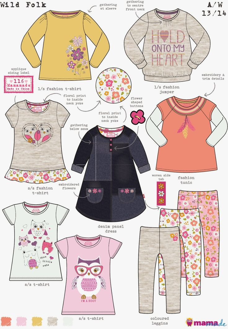Girlswear Range Boards and Trends