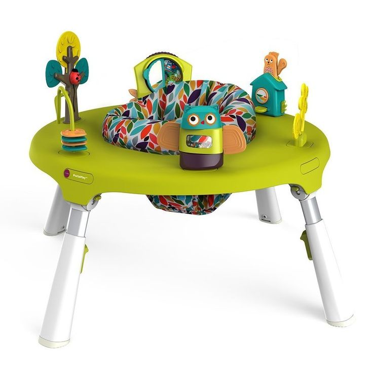 Oribel Portaplay Baby Activity Center converts from a modern exersaucer to an activity table for toddlers and beyond. Smart!