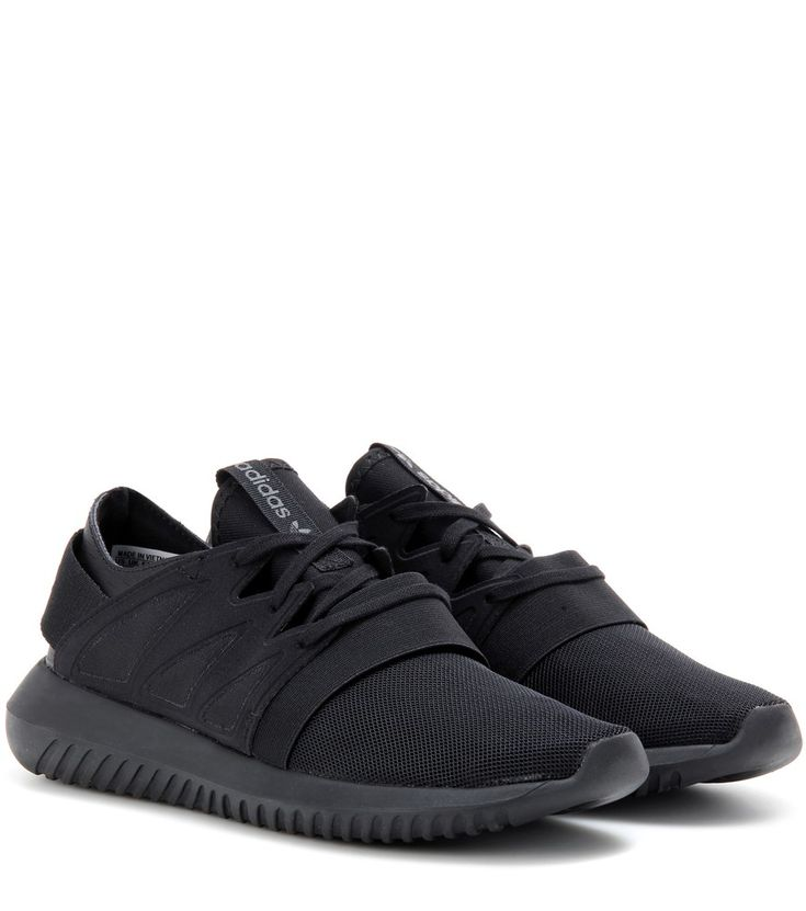 Adidas Originals - Tubular Viral sneakers - Adidas Originals gives one of their coveted styles a sleek twist that we're sure will go viral this season. Whether you're upping your gym game or opting for an urban-cool look, this black pair will lock in an achingly cool edge. seen @ www.mytheresa.com