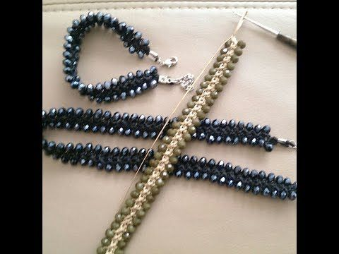 Crochet bracelet or necklace in few minutes. Super easy to do - YouTube