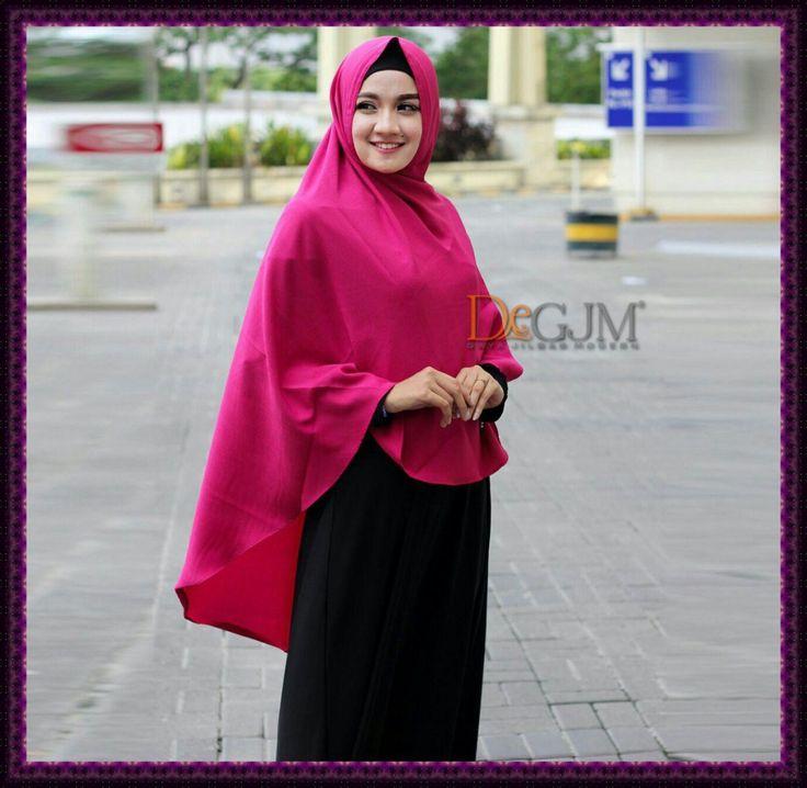 Jilbab Khimar Polos Tanpa Pad Bahan Linen deGJM Hijab