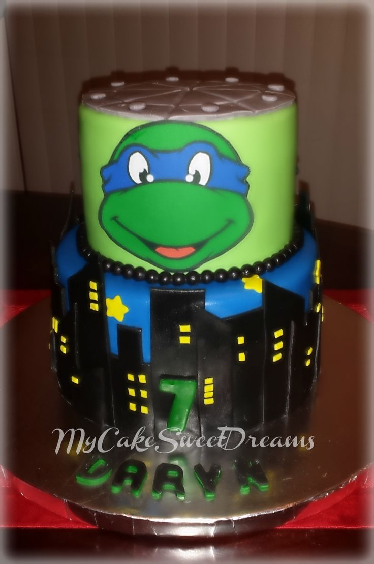 Sab cakes teenage mutant ninja turtles leonardo cake stuff the