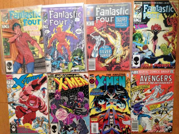 Fantastic Four comics from the 80s. Lot of Xmen and fantastic
