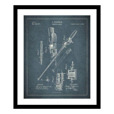 ReplayPhotos 1884 Fishing Rod Patent Framed Graphic Art