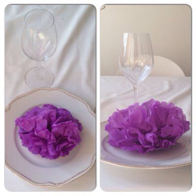 flower napkins