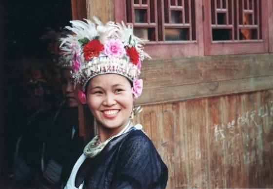 Il sorriso di una ragazza cinese della popolazione dei Dong. #cina #8marzo