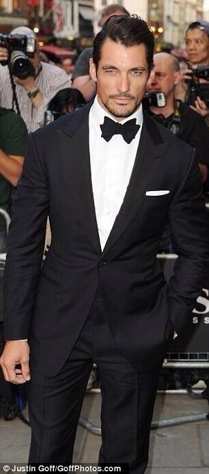 So sexy in his classic tux