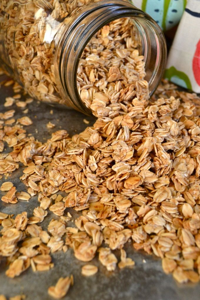 Simple Granola, low calorie and perfect topping for yogurt!