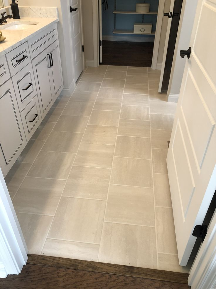 Cove Creek 13x13 Gray Floor Tile Installed Brick Joint