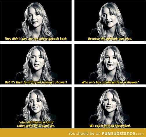 Jennifer Lawrence when she was working on X-Men first class