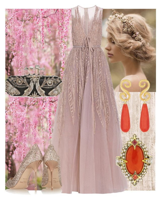 """Fairy Tale"" by rampadegala ❤ liked on Polyvore featuring Elie Saab, Jimmy Choo, Alexander McQueen, Cathy Waterman, Splendid Company and fairytale"